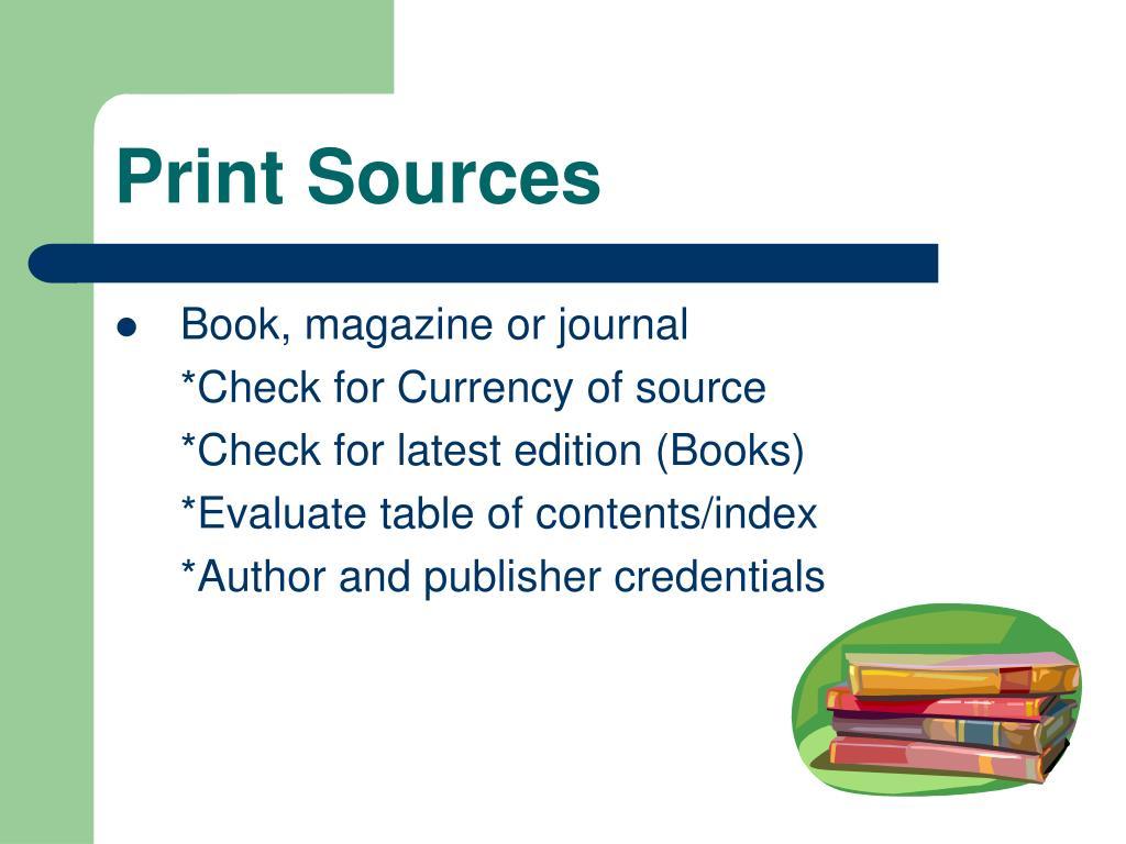 Print Sources
