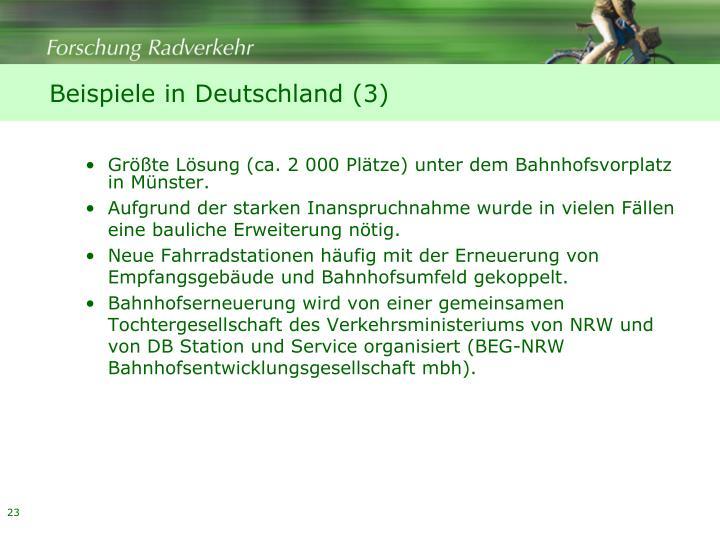 Beispiele in Deutschland (3)