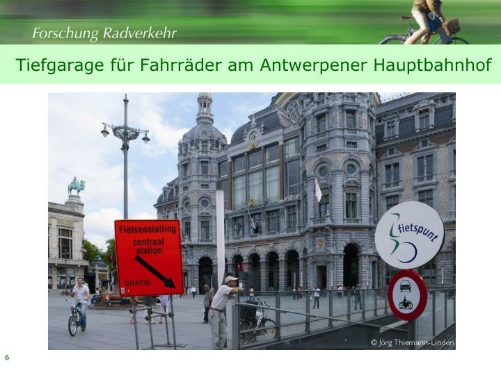 Tiefgarage für Fahrräder am Antwerpener Hauptbahnhof