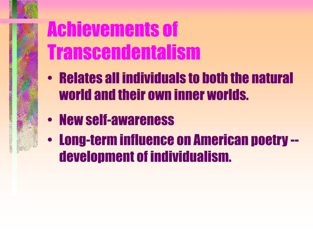 Achievements of Transcendentalism