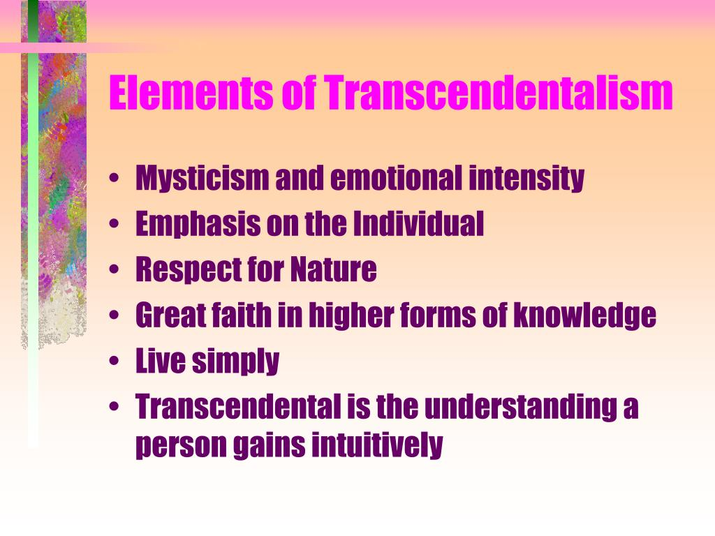 Elements of Transcendentalism