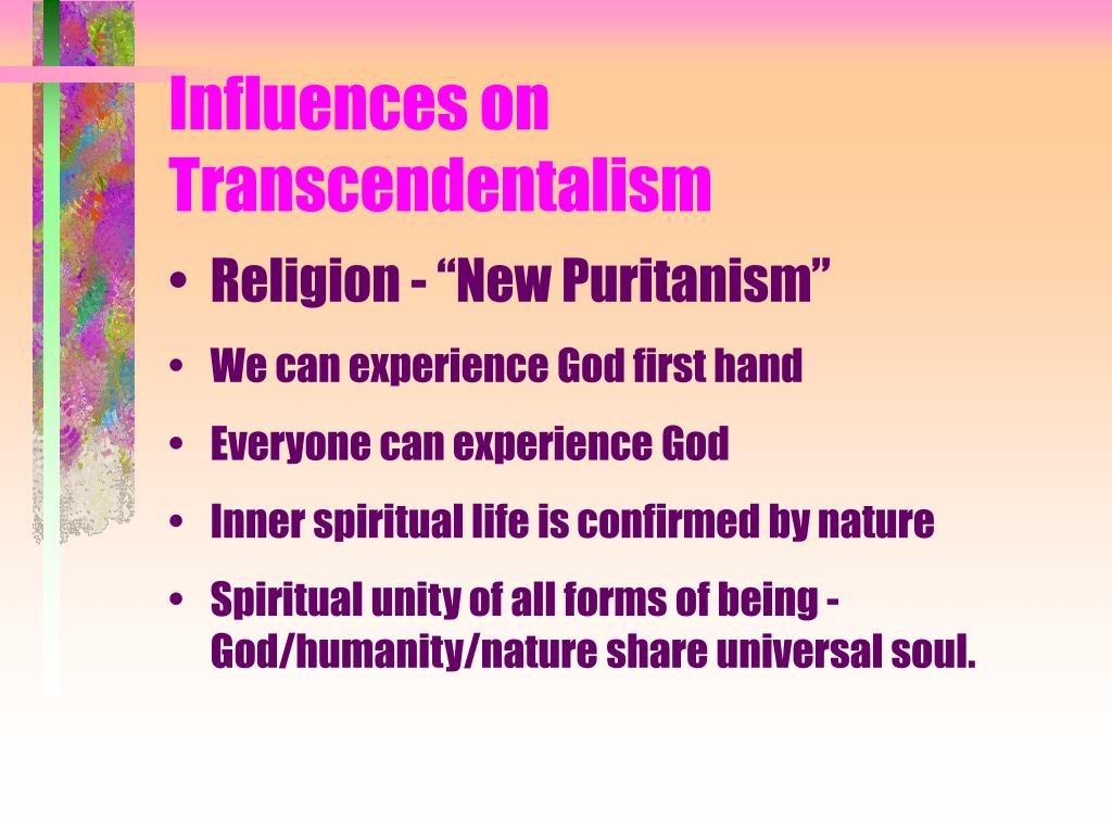Influences on Transcendentalism