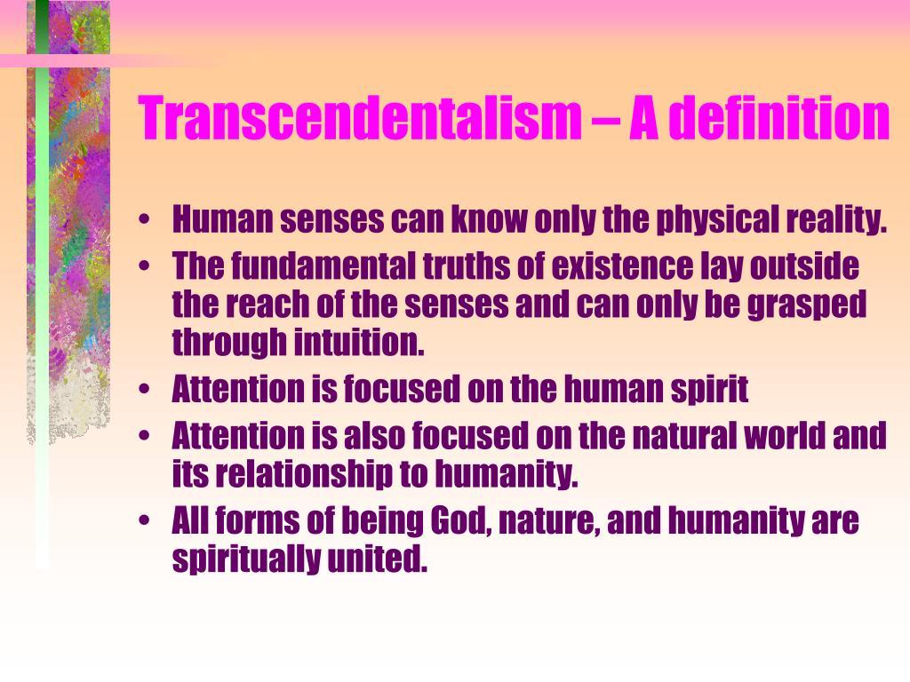 Transcendentalism – A definition