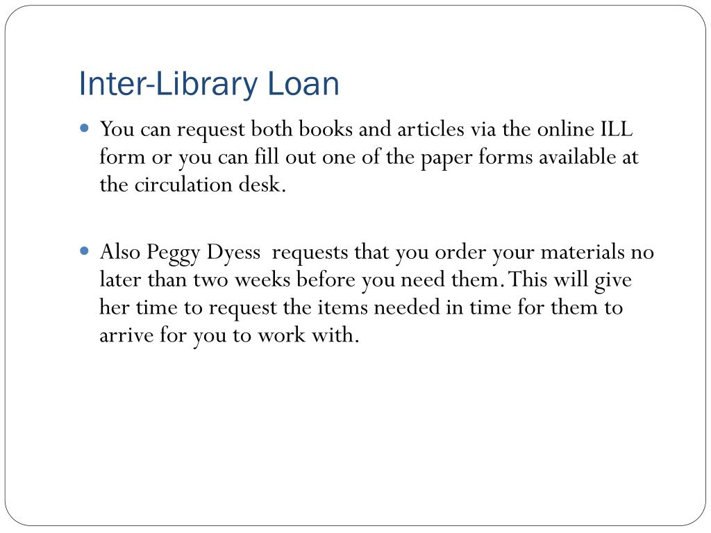 Inter-Library Loan