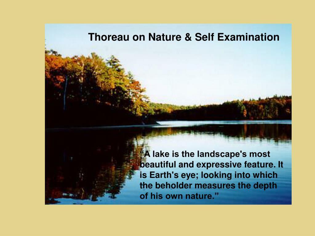Thoreau on Nature & Self Examination