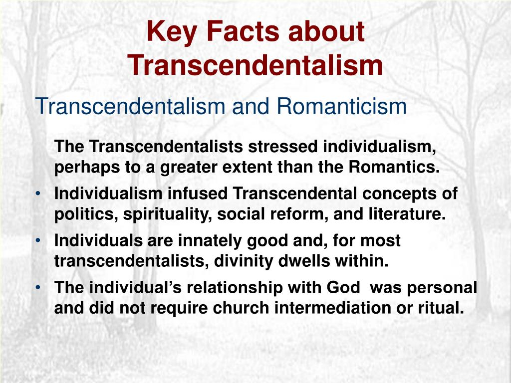 Key Facts about Transcendentalism