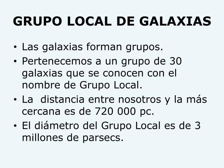GRUPO LOCAL DE GALAXIAS