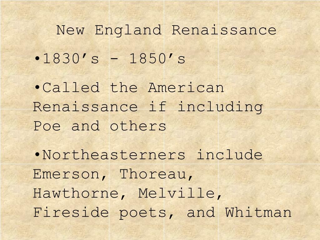 New England Renaissance