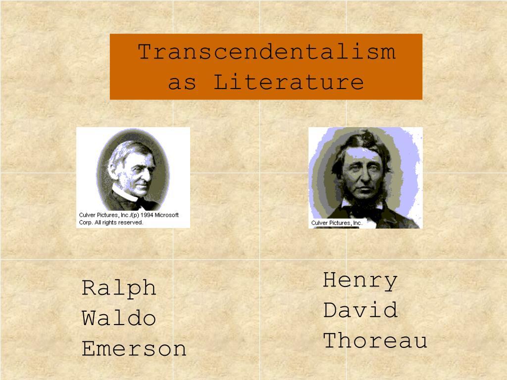 Transcendentalism as Literature