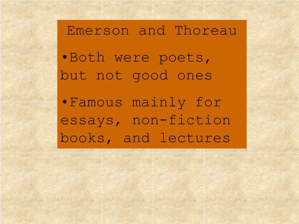 Emerson and Thoreau
