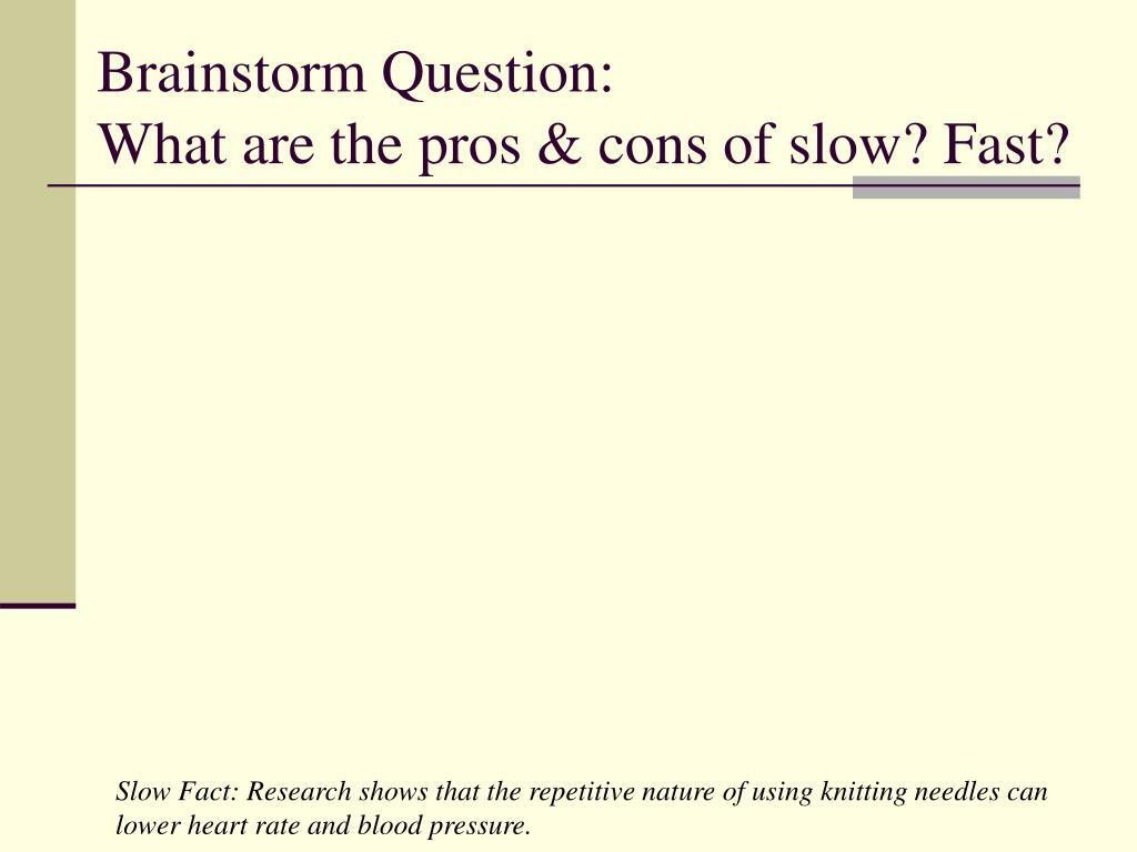 Brainstorm Question: