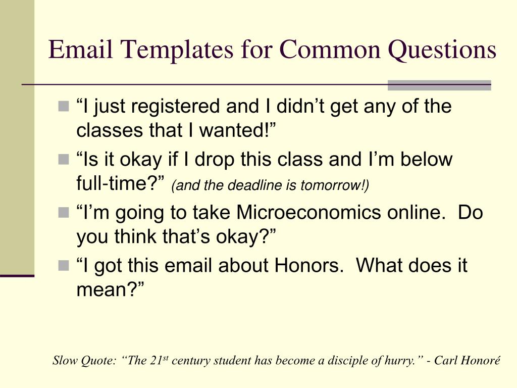 Email Templates for Common Questions