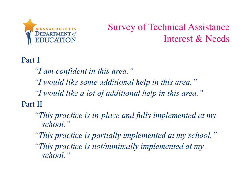 Survey of Technical Assistance