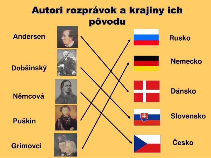 Autori rozprávok a krajiny ich pôvodu