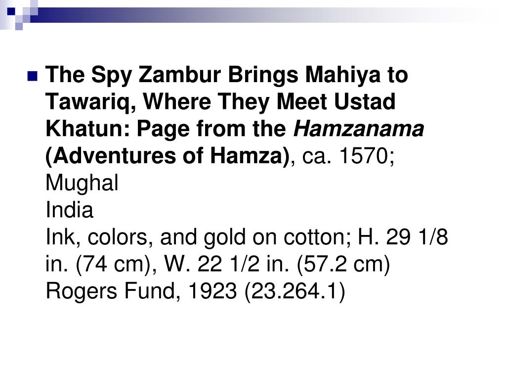 The Spy Zambur Brings Mahiya to Tawariq, Where They Meet Ustad Khatun: Page from the