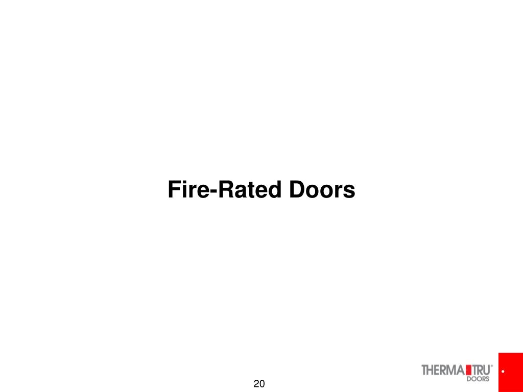 Fire-Rated Doors
