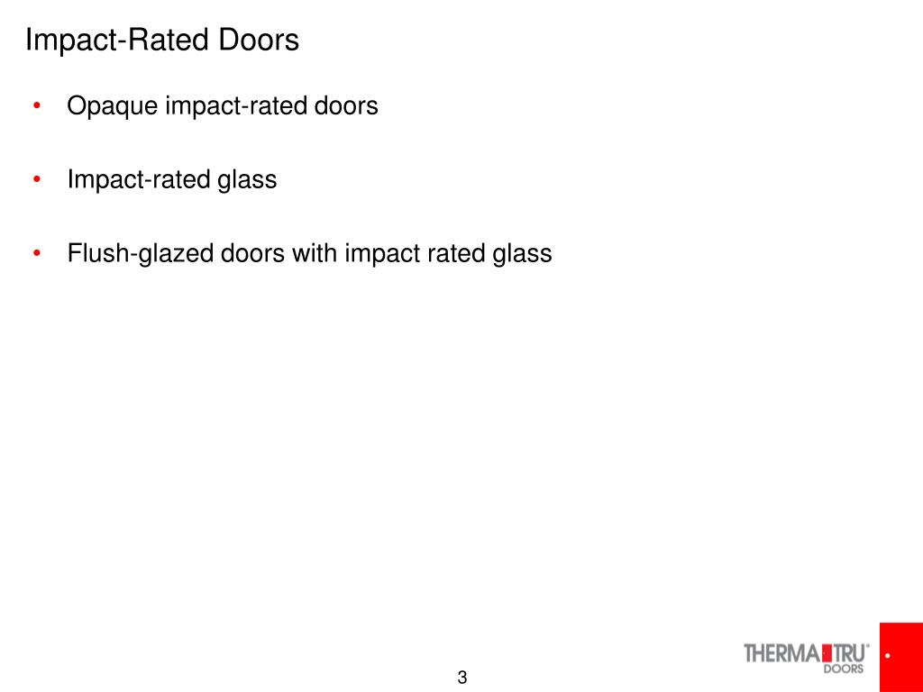 Impact-Rated Doors