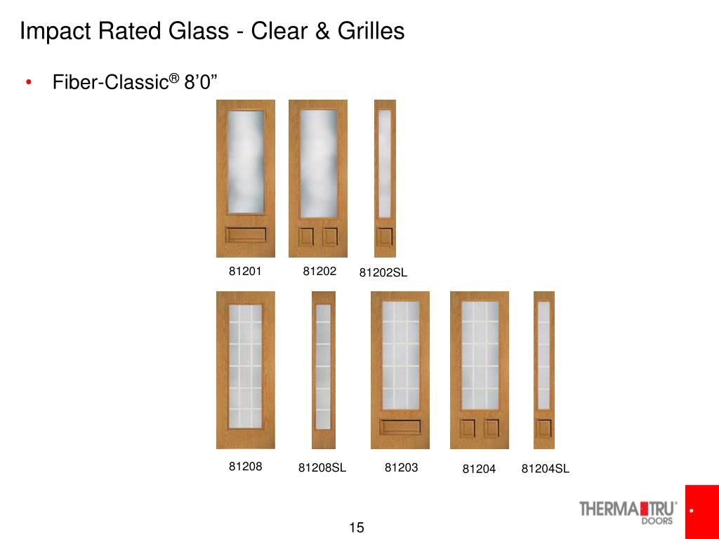 Impact Rated Glass - Clear & Grilles
