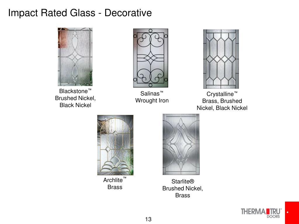 Impact Rated Glass - Decorative