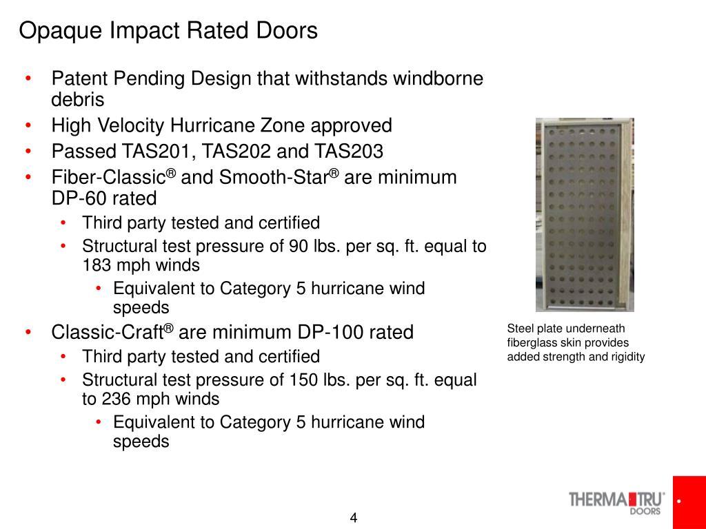 Opaque Impact Rated Doors
