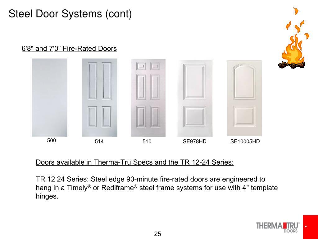 Steel Door Systems (cont)