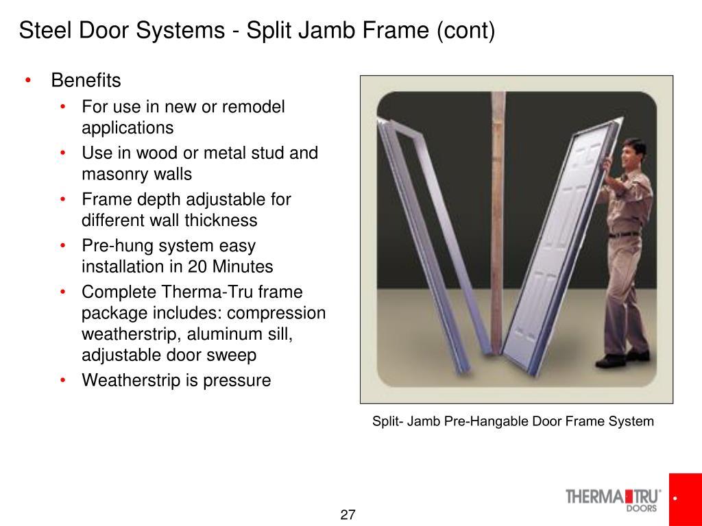 Steel Door Systems - Split Jamb Frame (cont)