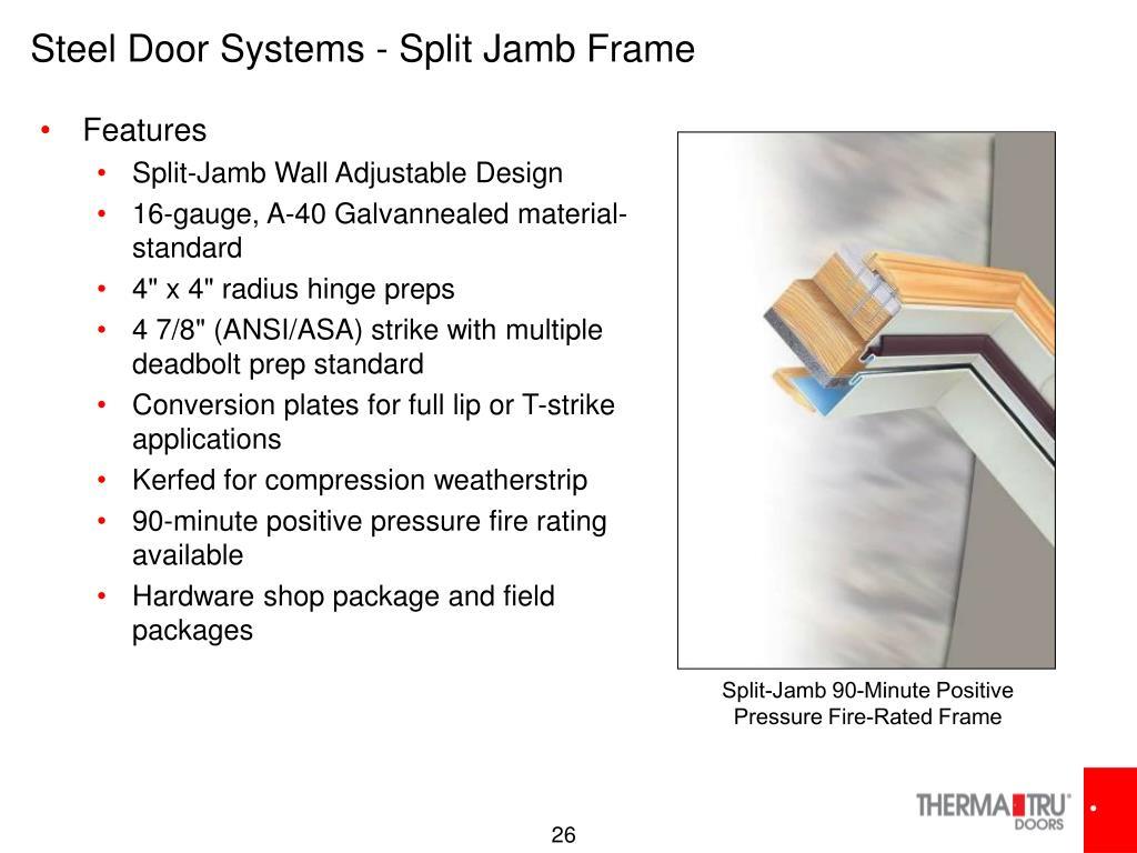 Steel Door Systems - Split Jamb Frame