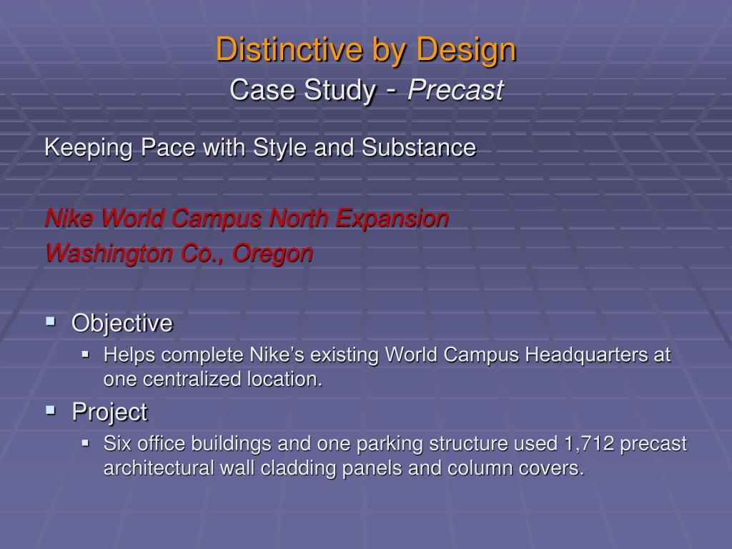 Distinctive by Design