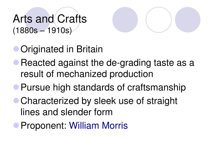 Arts and crafts 1 880 s 19 1 0s