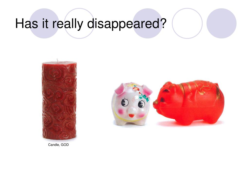 Has it really disappeared?