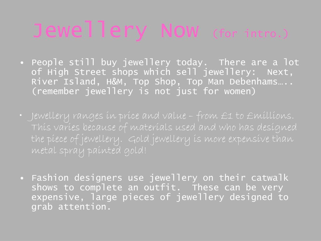 Jewellery Now