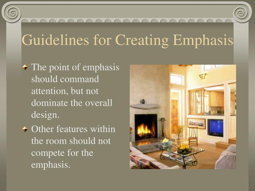 Guidelines for Creating Emphasis