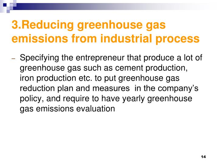 3.Reducing greenhouse gas emissions from industrial process