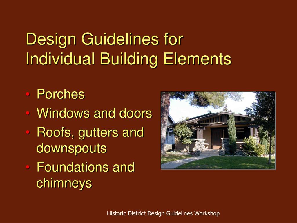Design Guidelines for