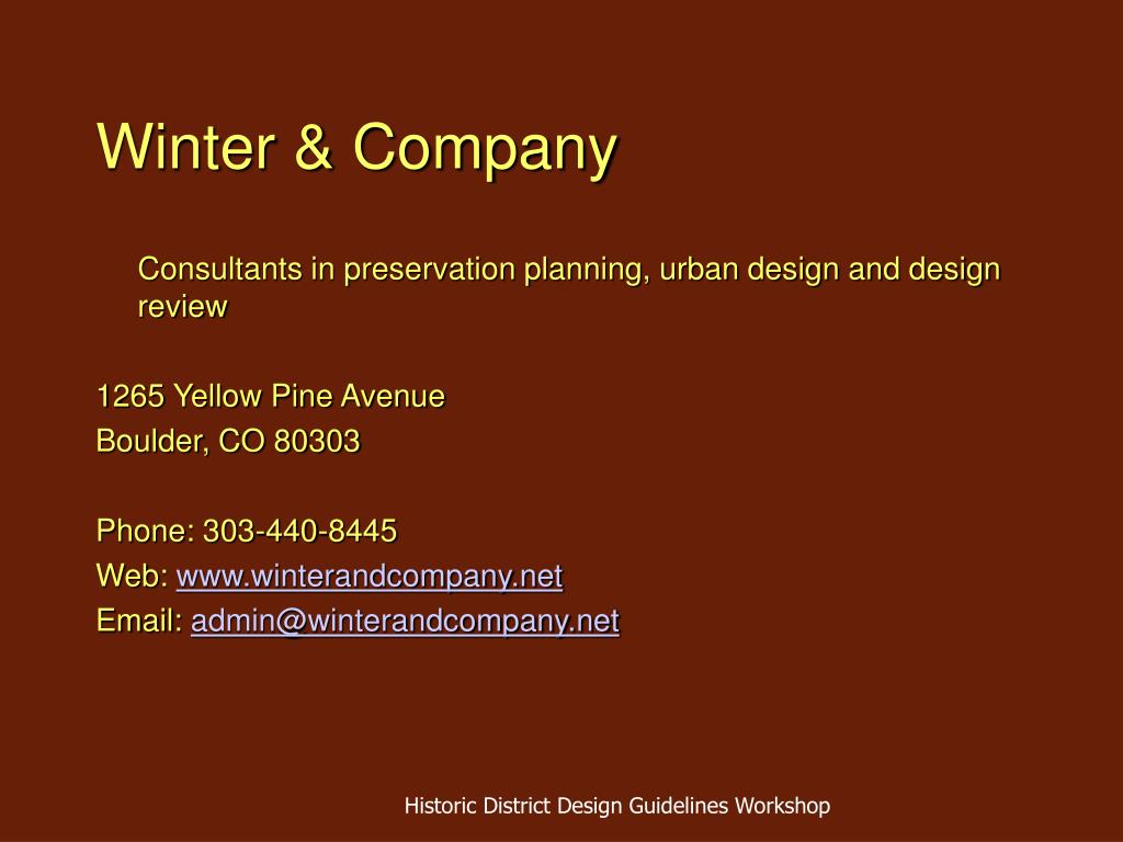 Winter & Company