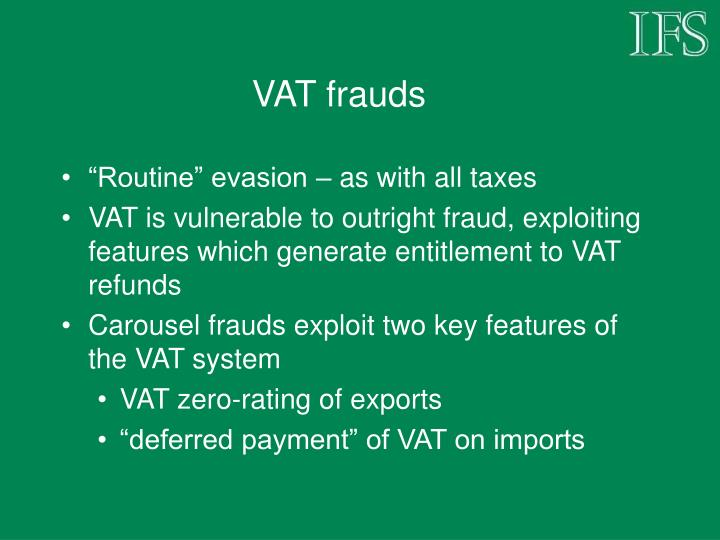 VAT frauds