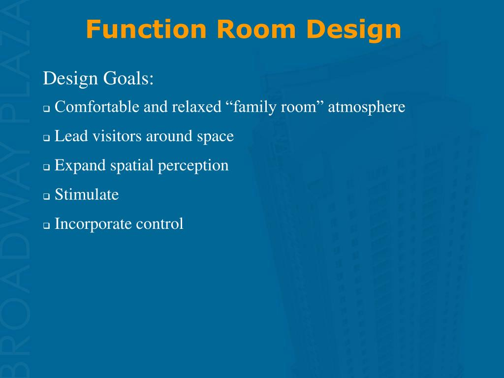 Function Room Design