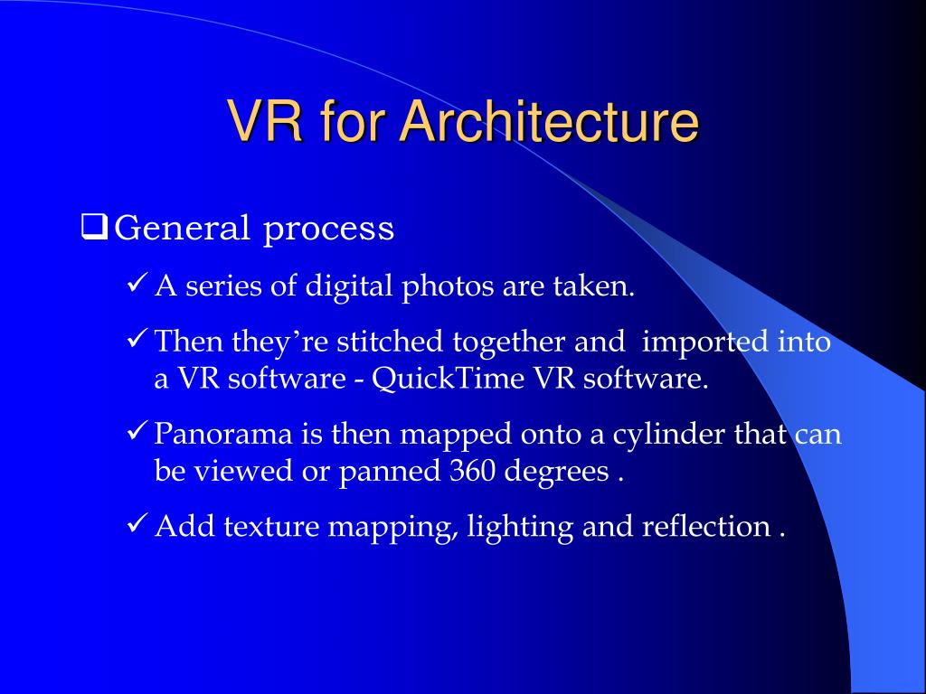 VR for Architecture