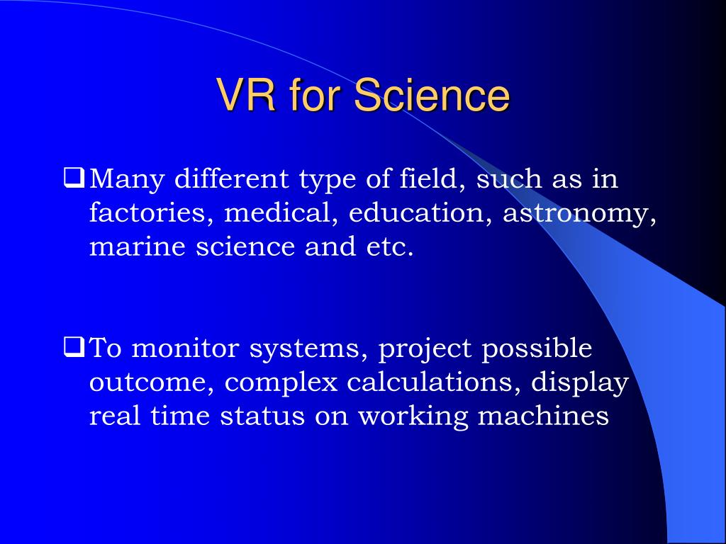 VR for Science