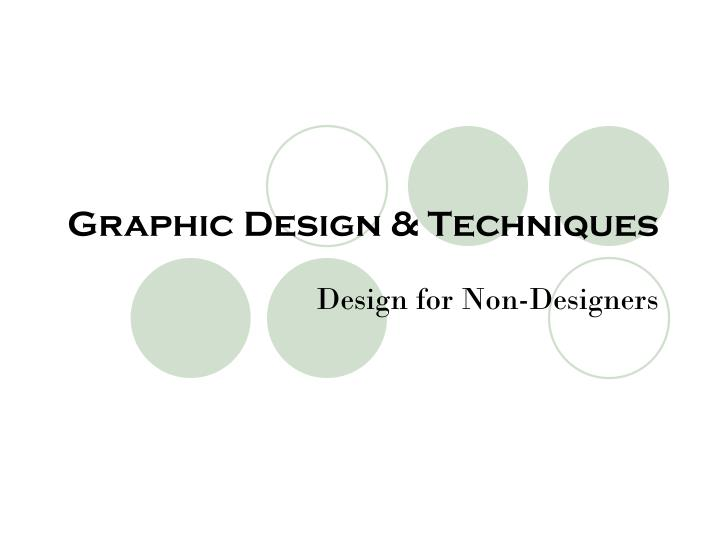 Graphic design techniques