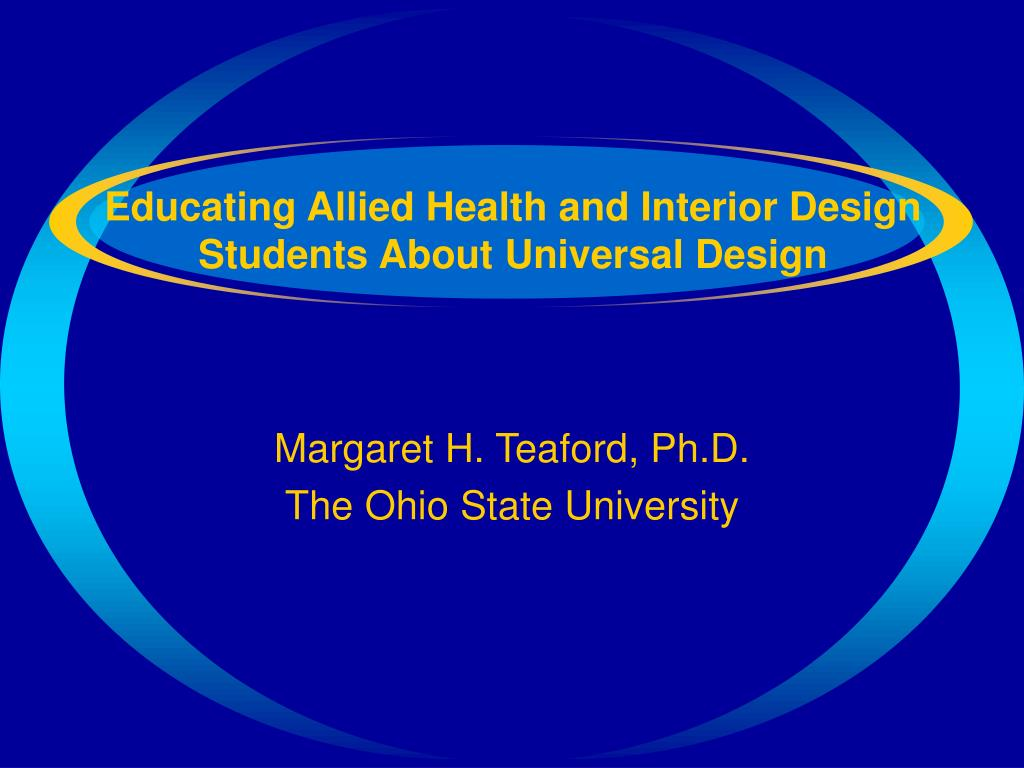 Educating Allied Health and Interior Design Students About Universal Design