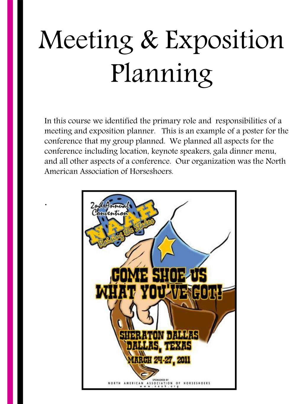 Meeting & Exposition Planning