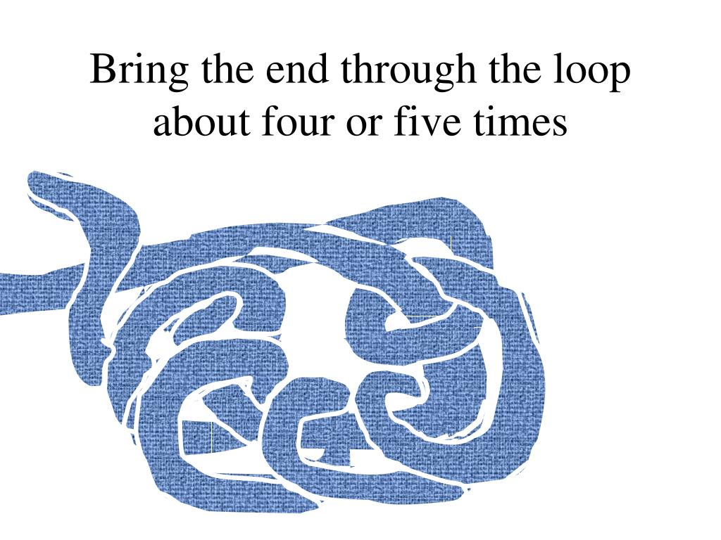 Bring the end through the loop about four or five times