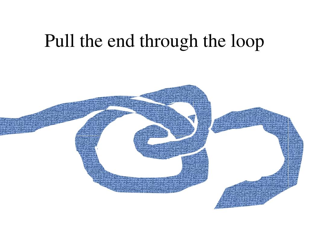 Pull the end through the loop