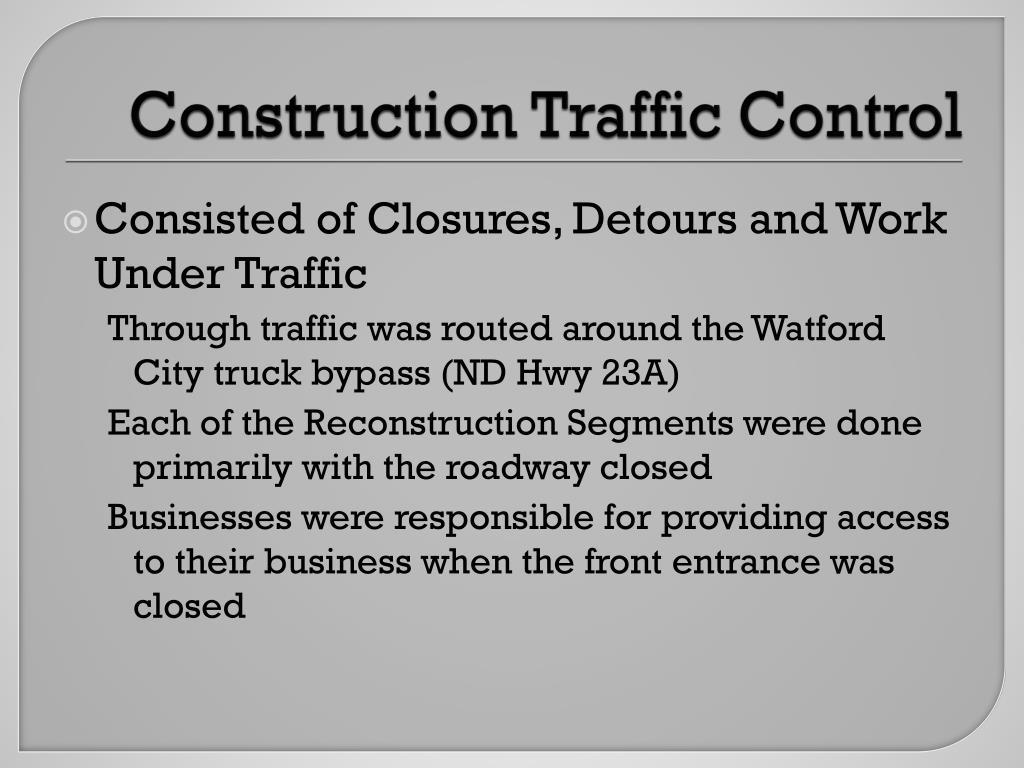 Construction Traffic Control