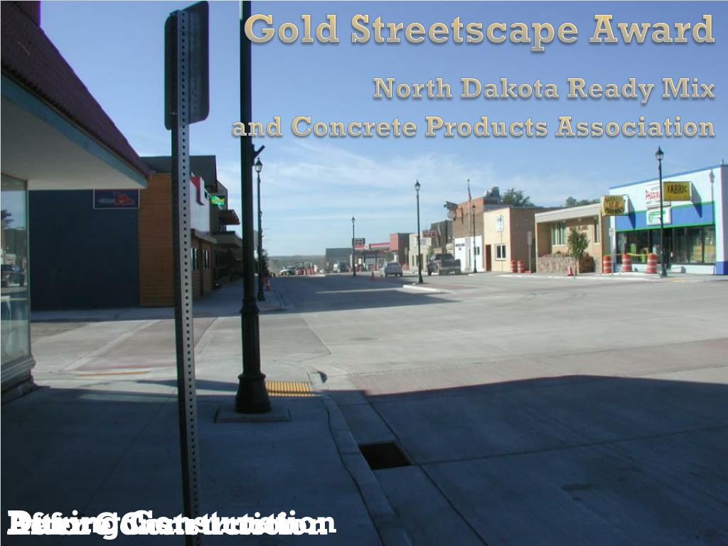 Gold Streetscape Award