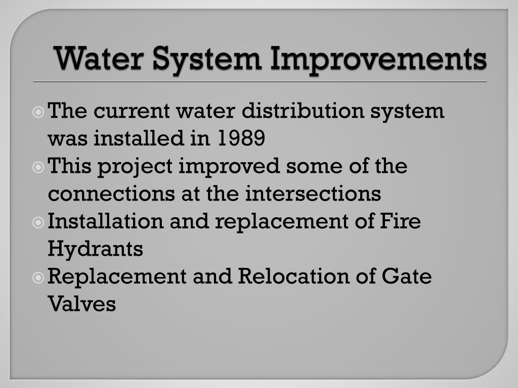 Water System Improvements