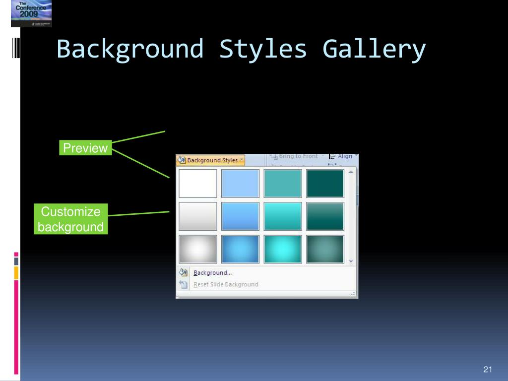 Background Styles Gallery