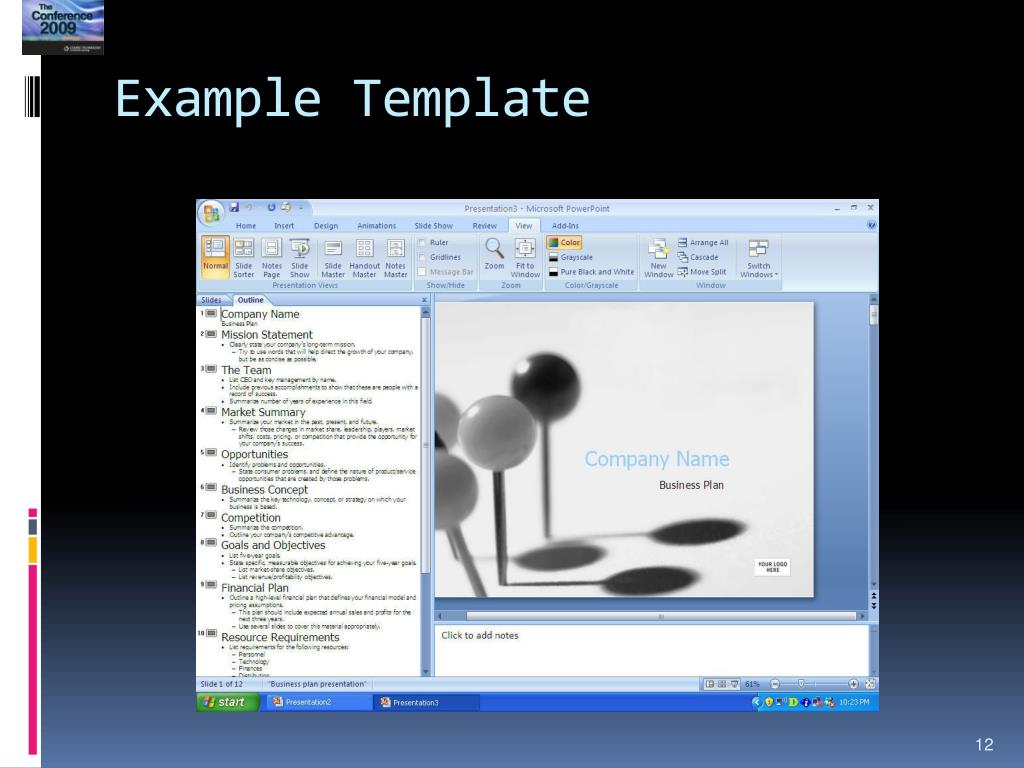 Example Template