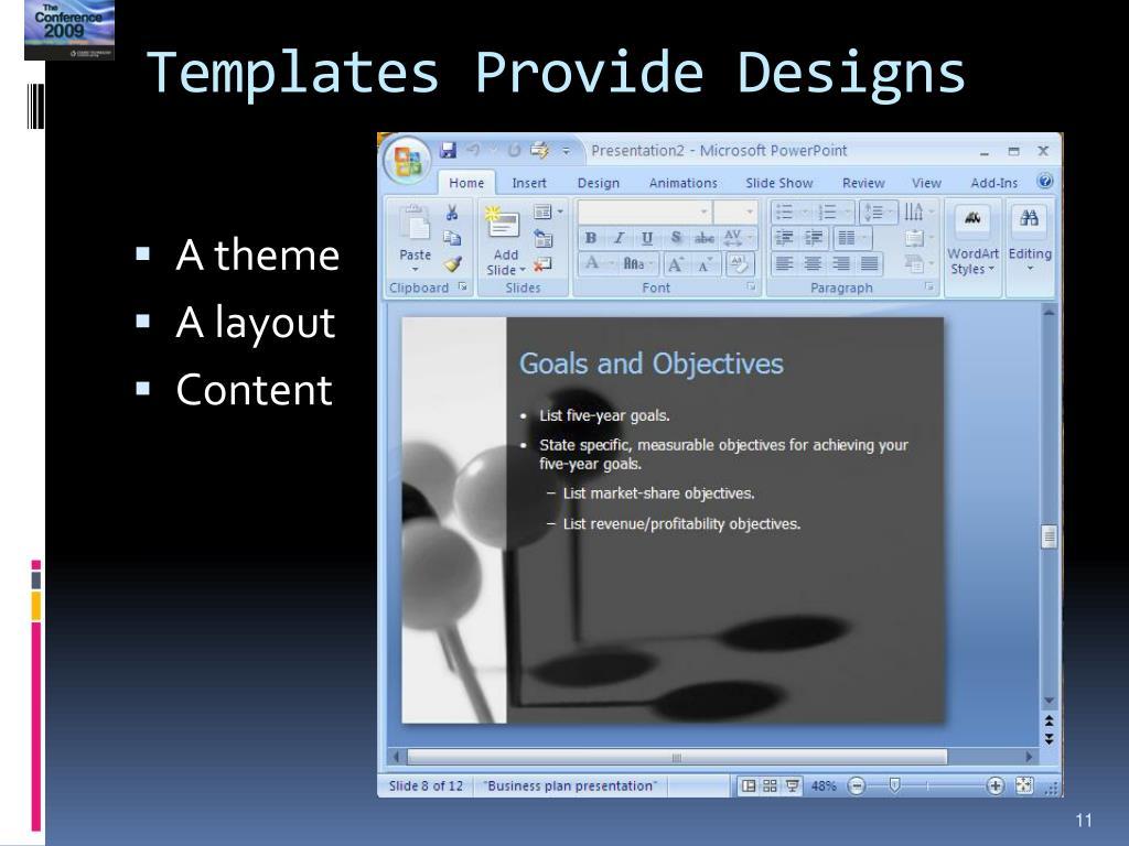 Templates Provide Designs